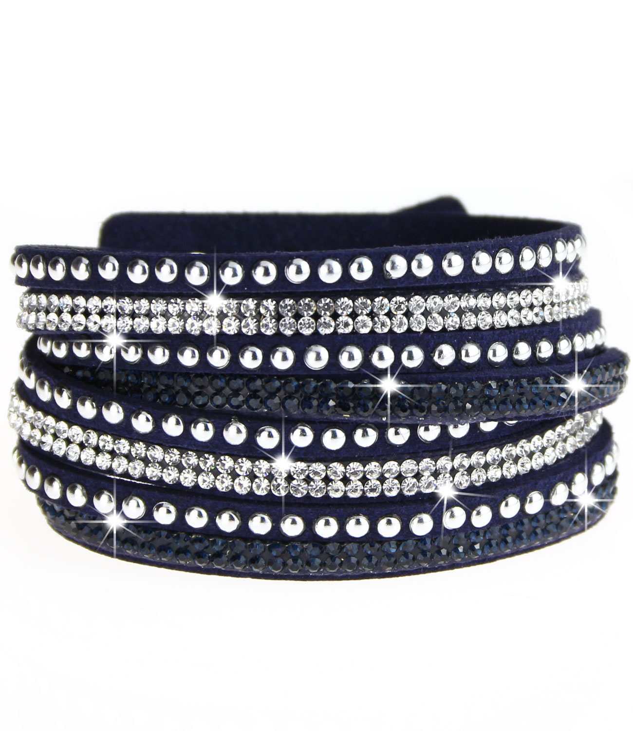 caripe damen armband glitzer nieten strass wickelarmband strala ebay. Black Bedroom Furniture Sets. Home Design Ideas