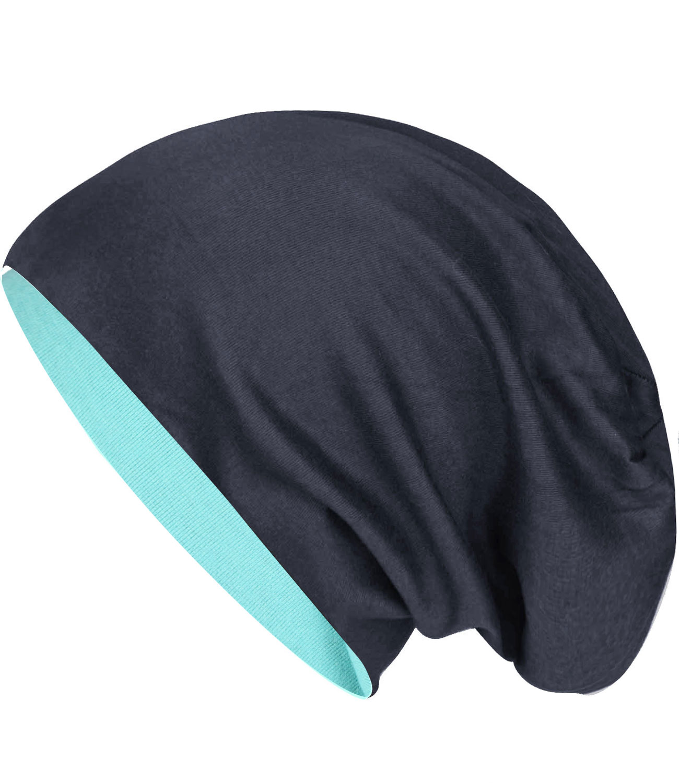 CARIPE Casquette Jersey Femmes Hommes SLOUCH LONG BEANIE XXL Tournant Bonnet-su99-2-1