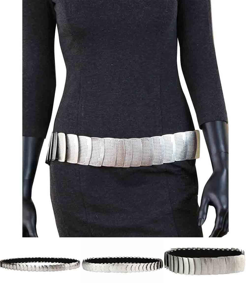 caripe damen breiter metall stretch g rtel stretchg rtel. Black Bedroom Furniture Sets. Home Design Ideas