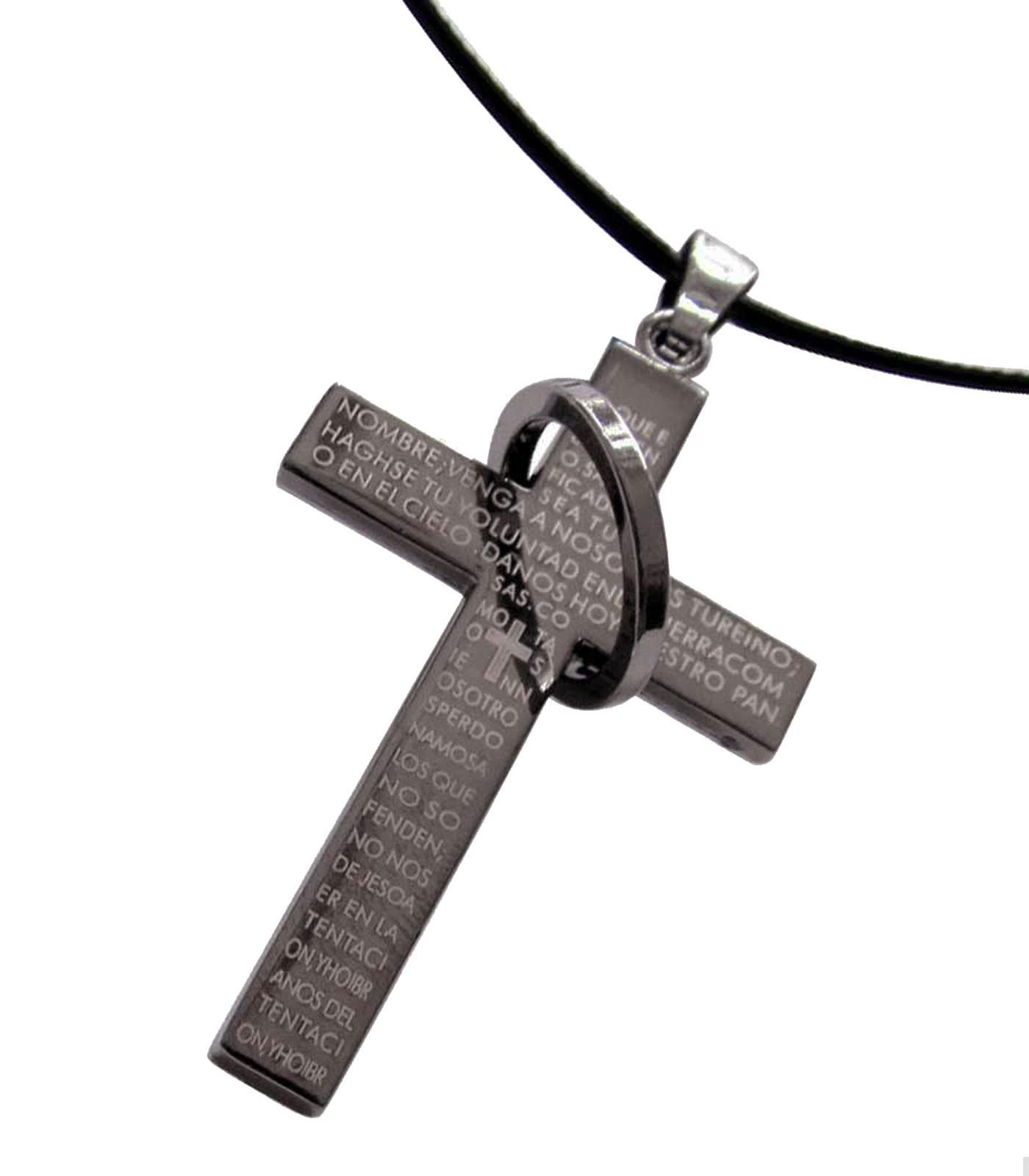 Goldkette mit kreuz herren  Jewow Schmuck Edelstahl Herren Halskette Kreuz Anhänger mit 6mm ...